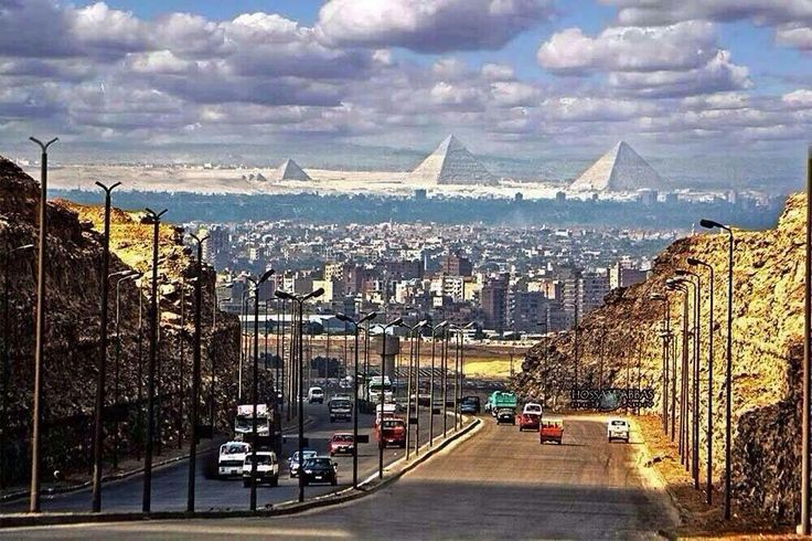 The Pyramids as seen from Cairo