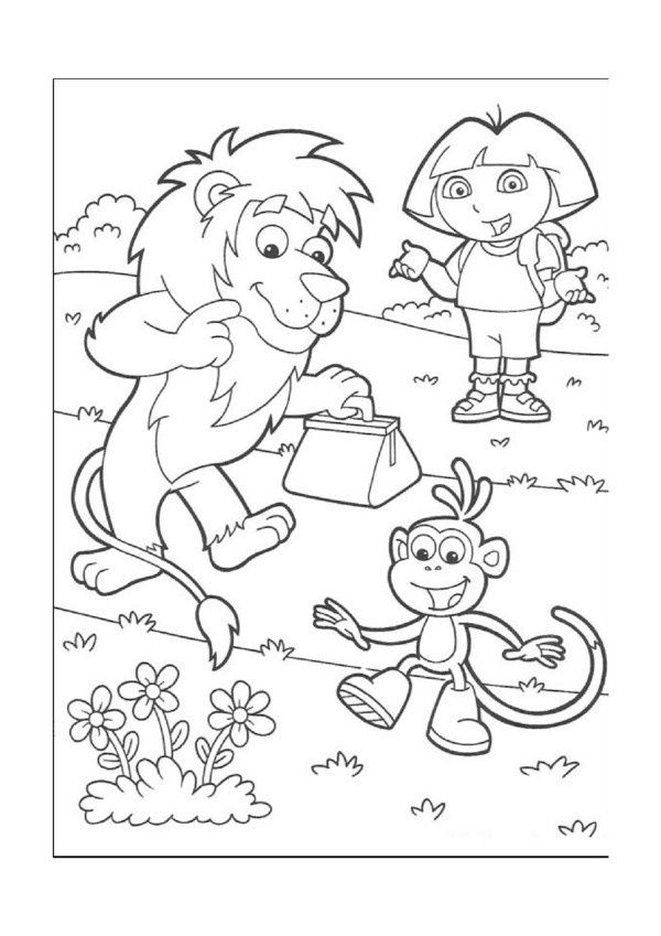 dora coloring valentine easter pages - photo#29