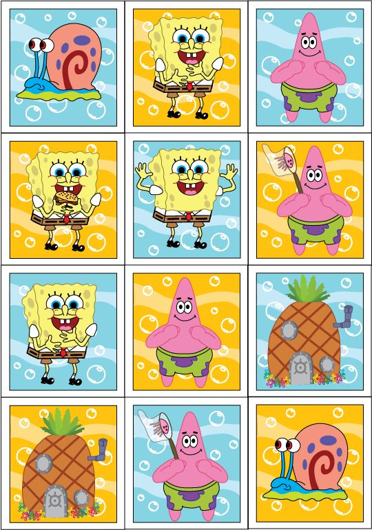 Spongebob stikcers/decor/topper