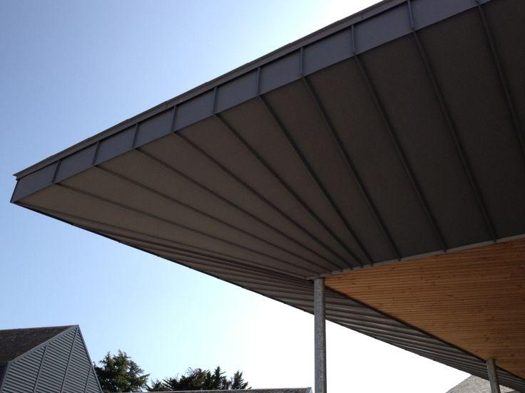 Couverture Zinc Nantes, toit plat, sarking, toiture zinc Vertou Aigrefeuille sur Maine et Le Bignon