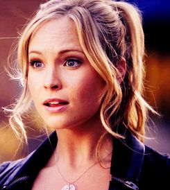 Caroline Forbes - utterly stunning with subtle makeup. Minimal foundation, pink blush, lip gloss, very well groomed eyebrows, smokey eyes and perfect pulled back hair.