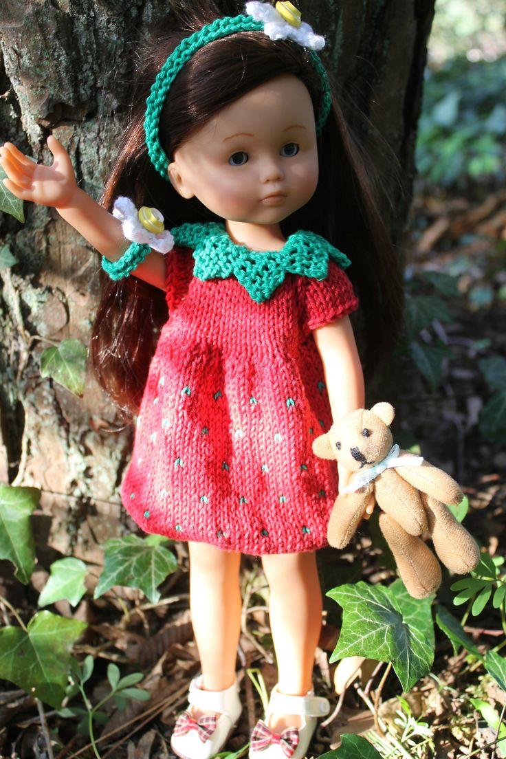 """Tuto robe """"petite fraise"""" pour poupée Les Chéries"""