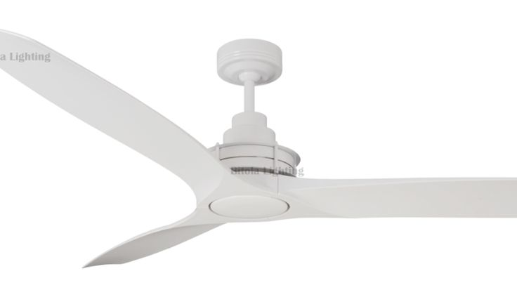 "Mercator+Flinders+Ceiling+Fan+-+56""+1400mm+3+Blade+AC+-+White+with+White+ABS+Blades+-+FC510143WW, $269.00"