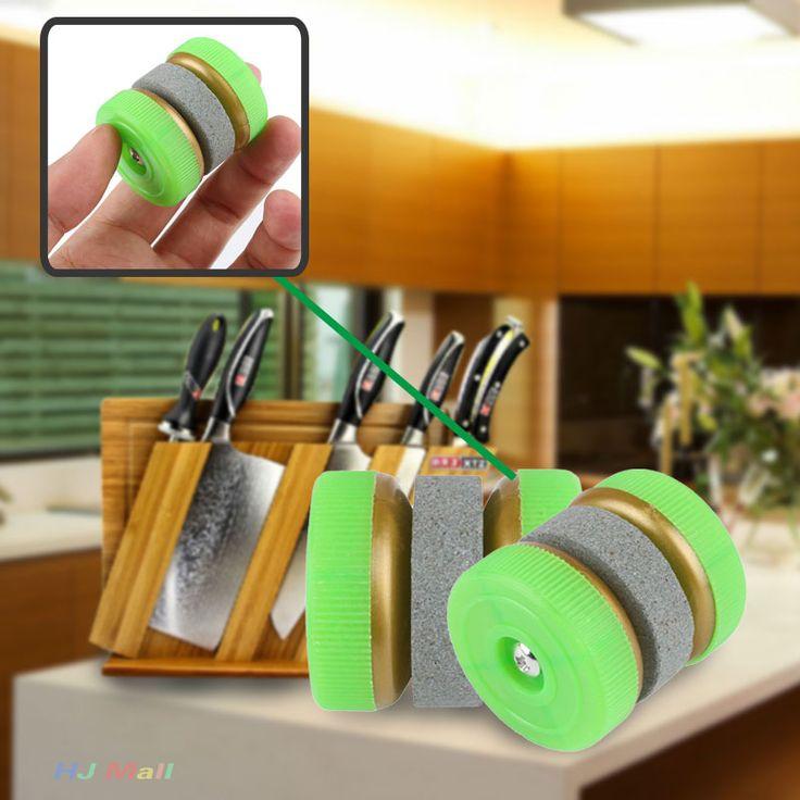 2017 Portabel Grinding Lingkaran Dapur Knife Sharpener Batu Abrader Dua Roda Aksesoris Gadget Accesorios De Cocina Cocina