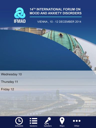 Dear Colleagues, dear Friends<p>We are delighted to invite you to the International Forum on Mood and Anxiety Disorders (IFMAD) clinical update meeting to be held from 10 to 12 December 2014 in Vienna.<p>IFMAD has developed the reputation over many years of being the most interactive, stimulating and productive educational meeting in its field in Europe. It is accredited for continuing medical education. In a friendly atmosphere difficult clinical challenges are dissected, discussed and…