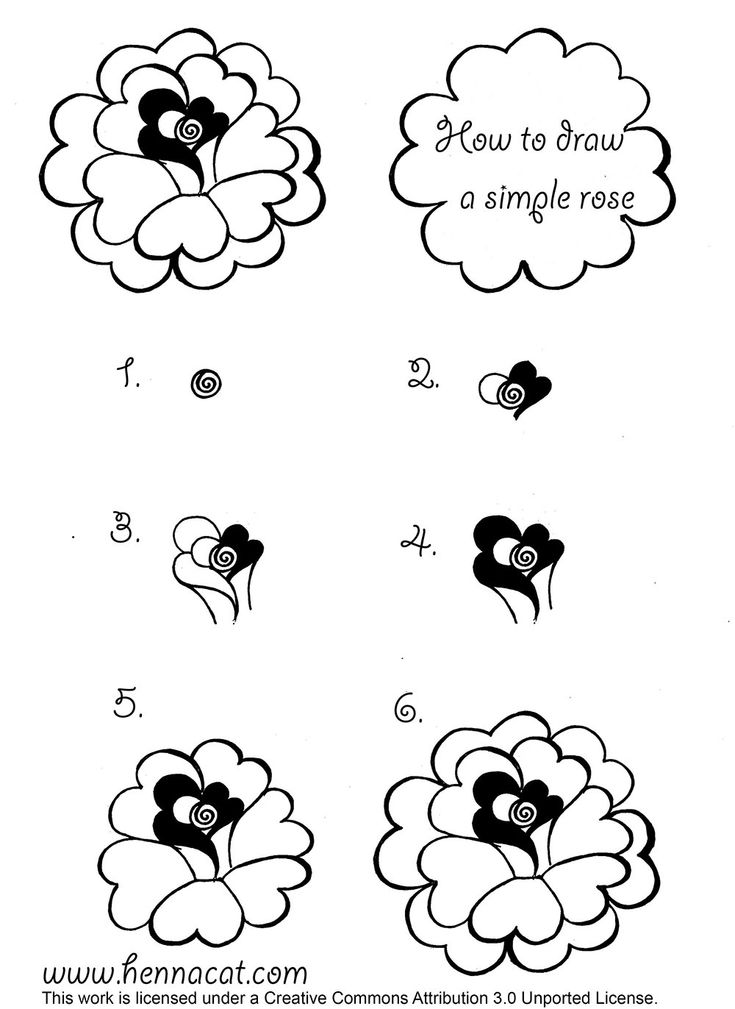 how to draw a rose in henna