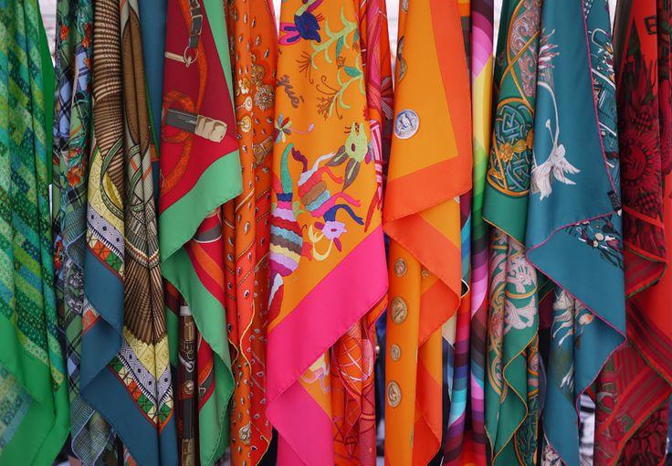 Great colors - Hermes scarves