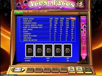 Play Aces and Faces Online Videopoker | $3,200 Welcome Bonus | Casino.com