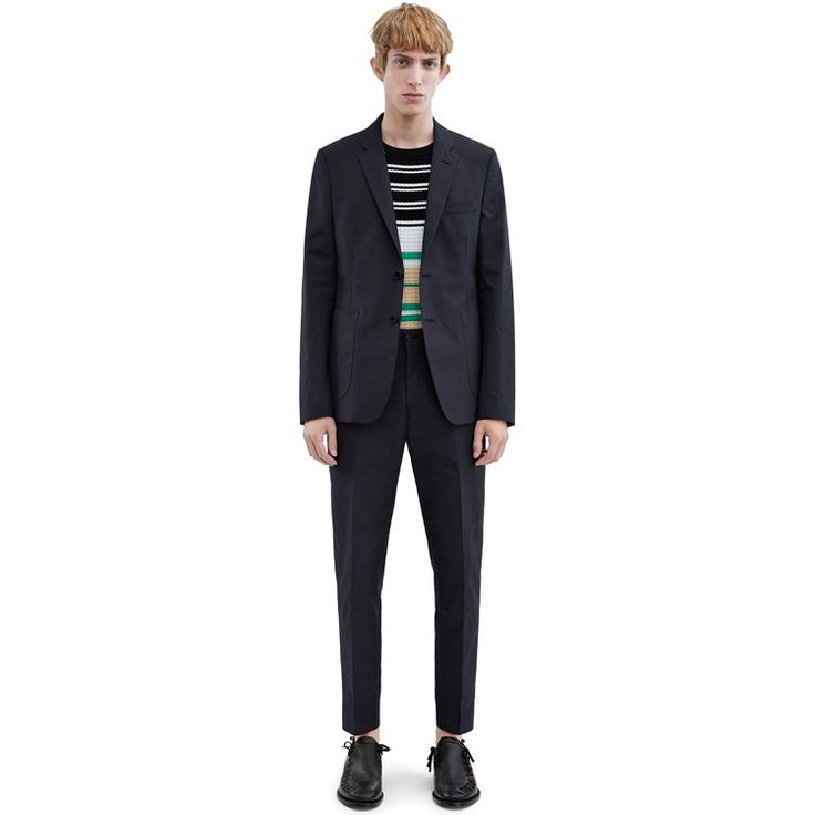 Acne Studios Stan trousers cotton twill is a hybrid between a chino and suiting pant.