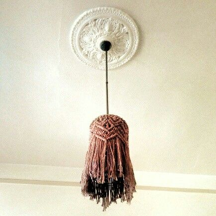 Macrame lampshade by FisherKing Macramé, Melbourne