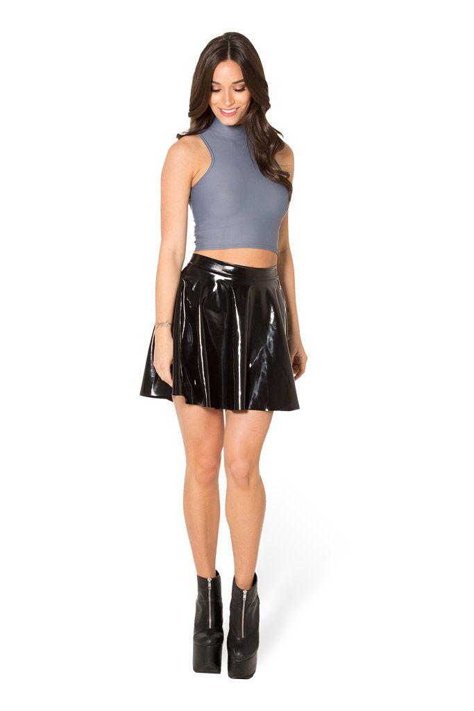 Matte Grey High Neck Crop (WW $35AUD / US $30USD) by Black Milk Clothing