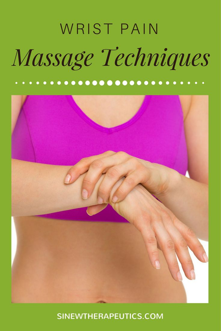 These massage techniques are of great value in wrist pain relief; circulation stimulation; dispersing blood and fluid accumulations; swelling reduction; and relaxing muscle spasms, especially when used alongside the Sinew Therapeutics liniments and soaks.