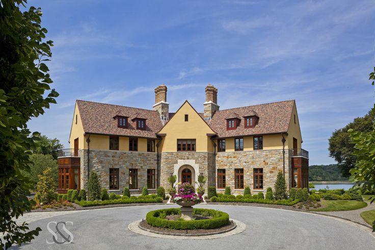 www.smiros.com  Smiros & Smiros Architecture   #luxury #interiors #architecture #lighting #cabinets #house #home #lavish  #architects #residential #windows #beauty #design #details #driveway #stone #country #mansion #garden #chimney