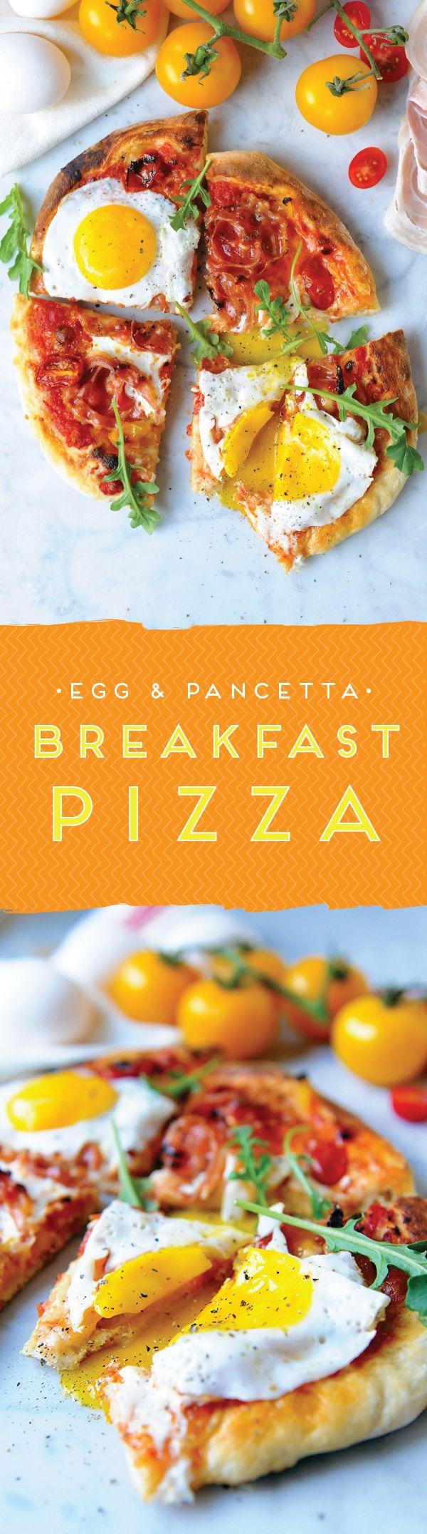 Egg & Pancetta Breakfast Pizza | Wake up, Homemade and We