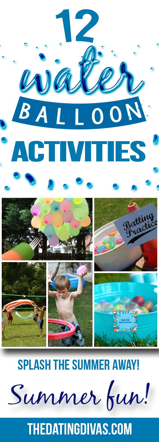 Water balloon games to help keep cool this summer!! Love this post from The Dating Divas!