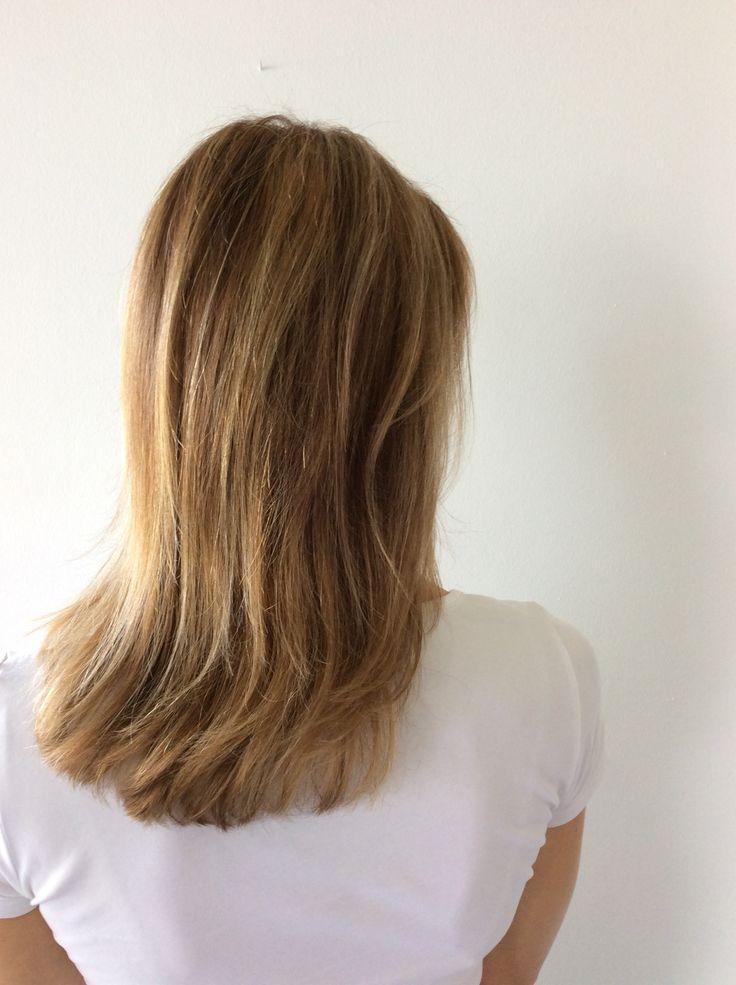 Brown caramel balayage hair - vaalean ruskeat toffee hiukset #caramel #balayage #glossing #raidat