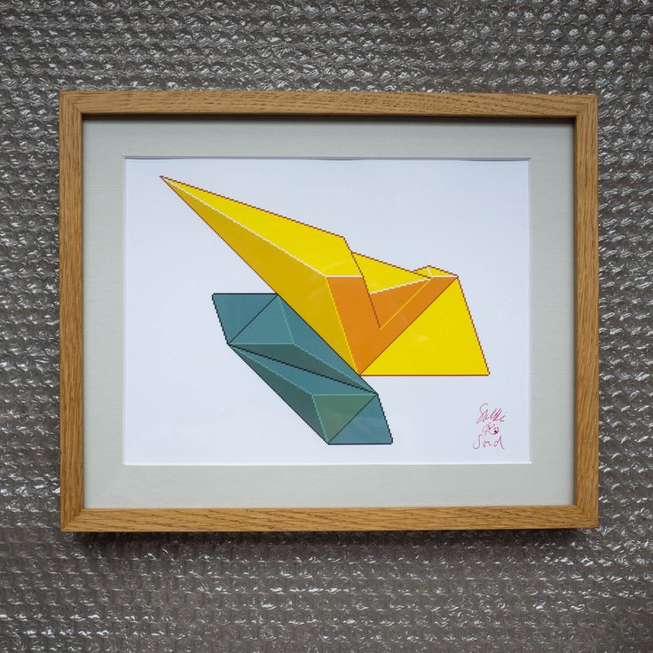 Double Green & Yellow Art Print