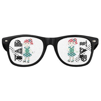 TAP Dance Recital Costume Tapdance Green Black Retro Sunglasses - accessories accessory gift idea stylish unique custom