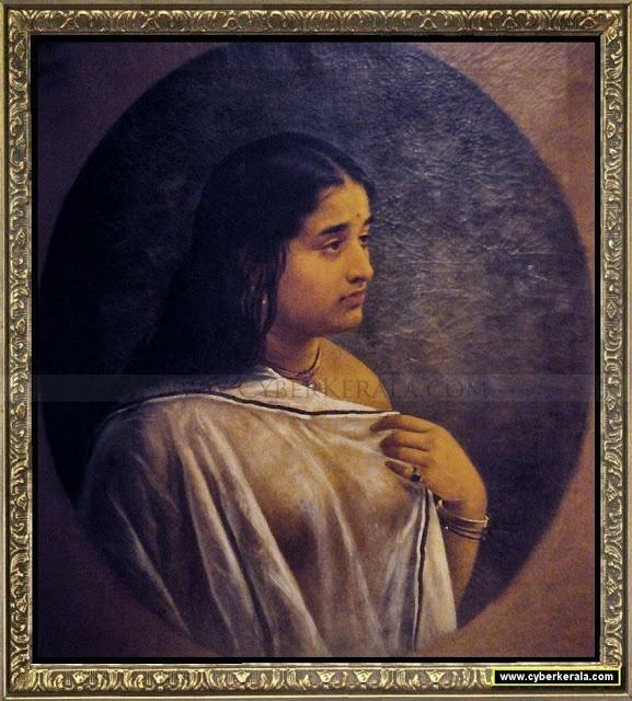 Raja Ravi Varmas oil Paintings: Malayali Girl