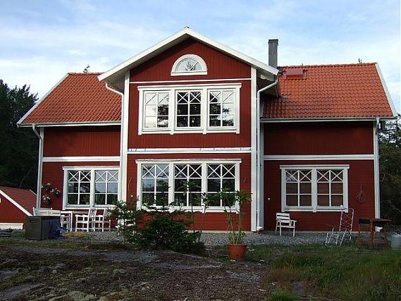 Eksjöhus Mellangården med burspråk i 2-plan istället för balkong (som är standard)