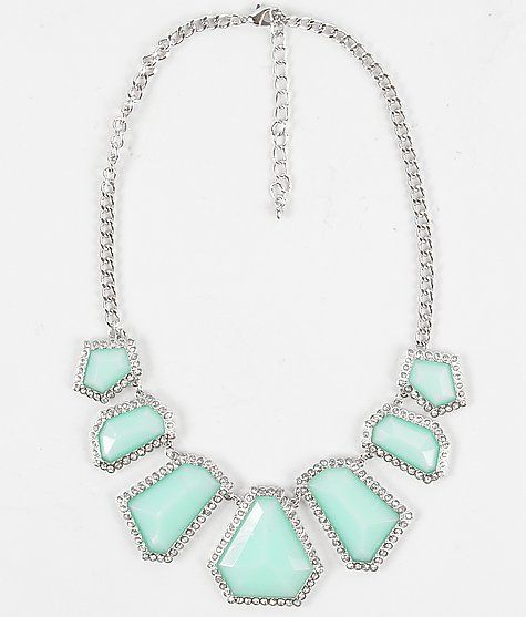 Bke Statement Necklace Buckle Com Mint Green Tiffany Blue