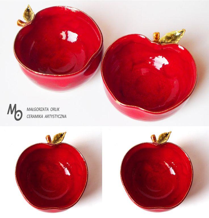 apple ceramic bowl www.ceramika-opole.pl