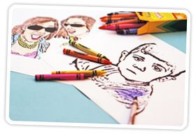 How to Create Coloring Book Pages Using Your Very Own Photos by photojojo  #Photography #Coloring_Book #DIY