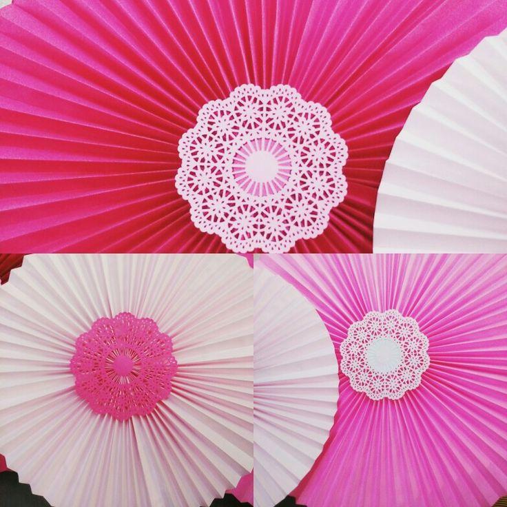 Paperfan rosette