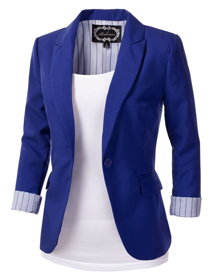 Image for Bright Blue Blazer Women   Viewing Gallery