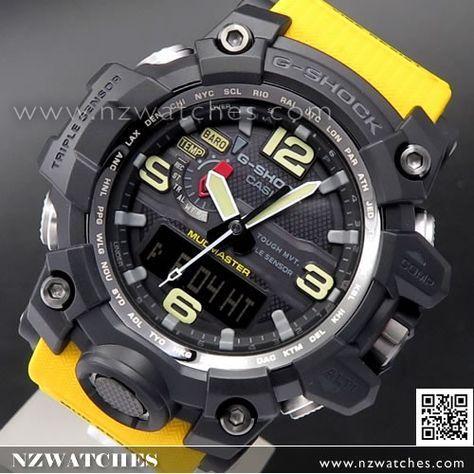 Casio G-Shock MUDMASTER Triple Sensor Solar Multiband 6 Watch GWG-1000-1A9, GWG1000