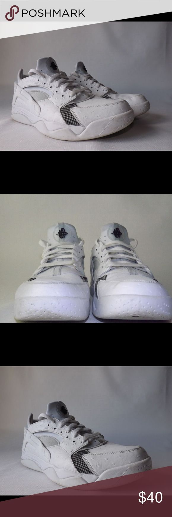Nike Air Huarache White Ostrich 10.5 Fits more like a 10, worn a few times. ABSOLUTELY NO TRADES Nike Shoes Sneakers