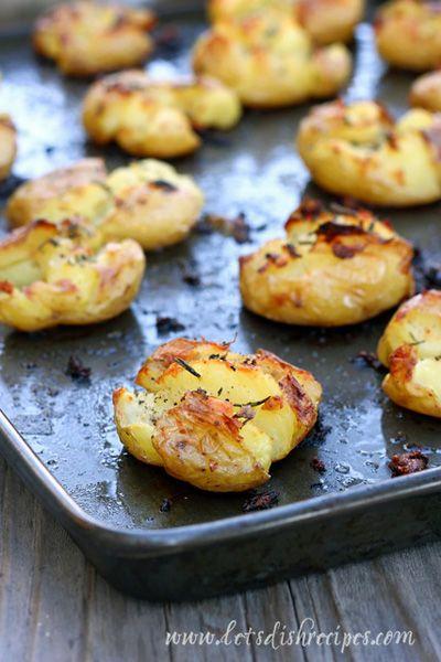 Market Monday: Crispy Garlic Rosemary Smashed Potatoes