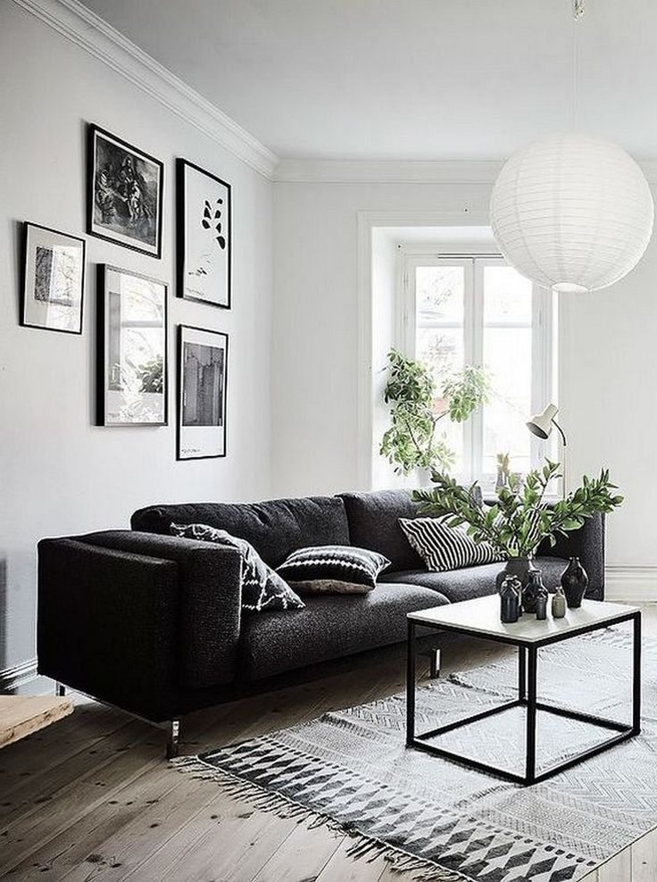 23+ Cool Black and White Wall Gallery Decorating Ideas for Living Room