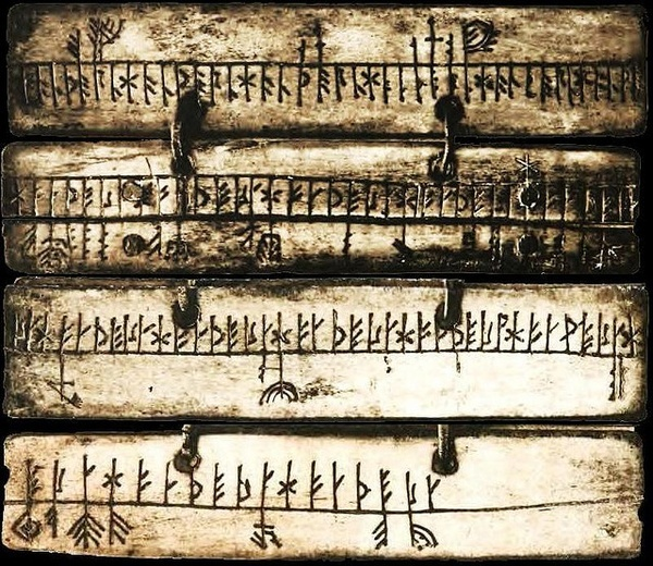 A Runic calendar is a perpetual calendar based on the 19 year long Metonic cycle of the Moon. Runic calendars were written on parchment or carved onto staves of wood, bone, or horn.
