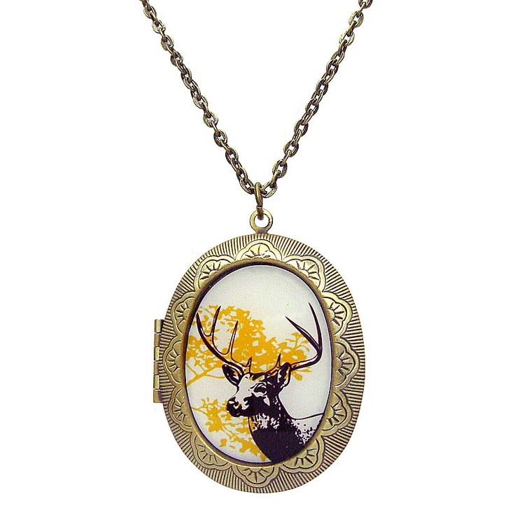 My Deer Locket Necklace