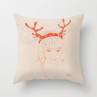 The good lady Throw Pillow #society6 #vibekehoie #illustration #illustrator #pillow #interior #design