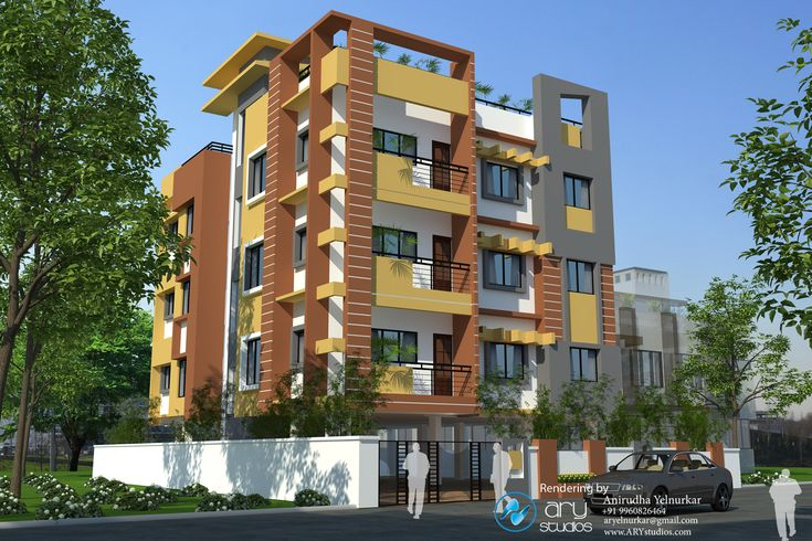 Indian residential building designs post navigation for Apartment plans in india