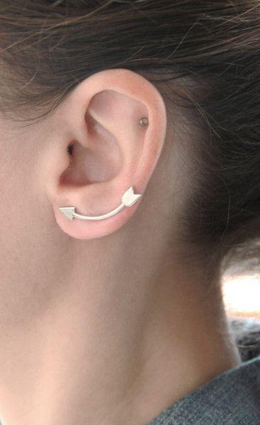 Sterling Silver Arrow Ear Pin