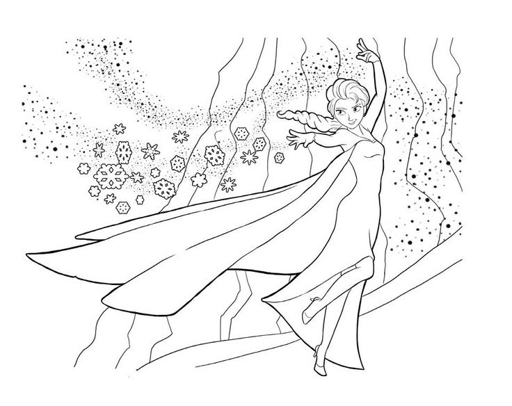 Disney Frozen Coloring Page 1