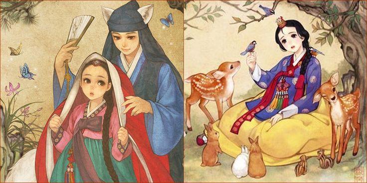 Cantiknya Karakter Disney Ketika Dijadikan Animasi Korea
