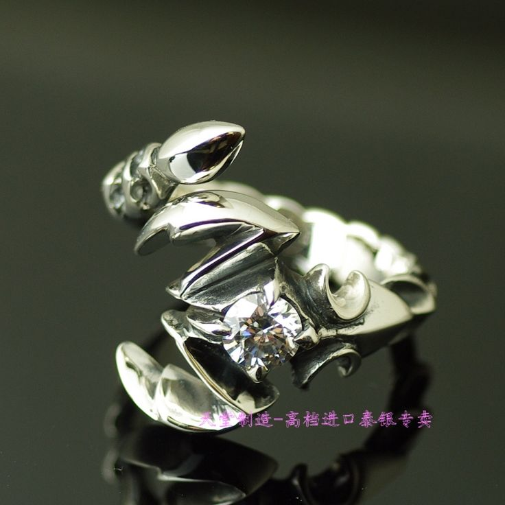 73.25$  Know more - 925 pure silver white scorpion open ring   #magazineonlinebeautiful