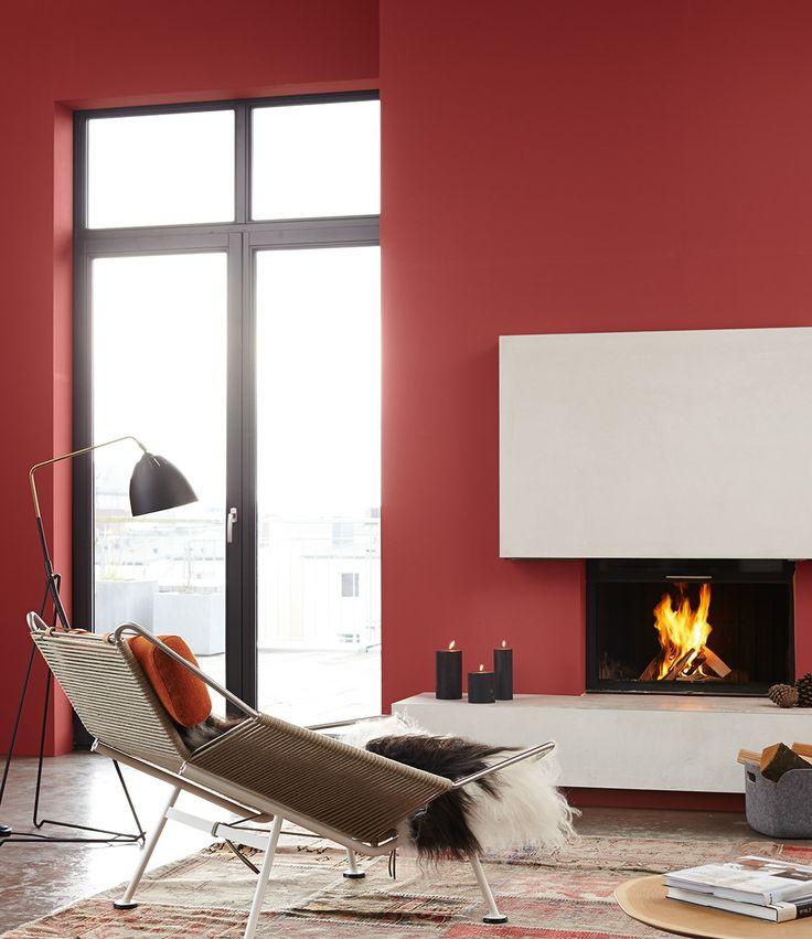 Wohnzimmer Rot Grau 150x50cm Panoramabild Paul Sinus Art Abstrakt Blau Rot  Braun Grau .