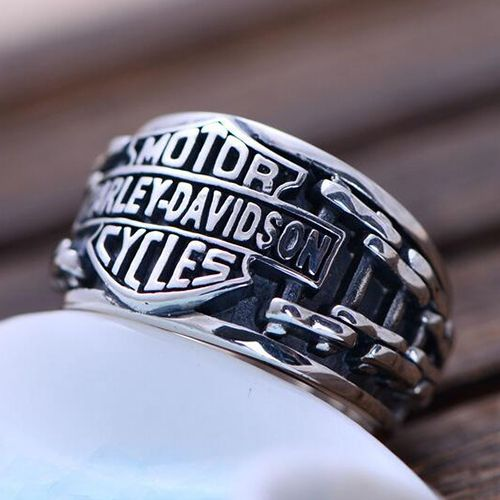 Men's Sterling Silver Biker Ring - Jewelry1000.com