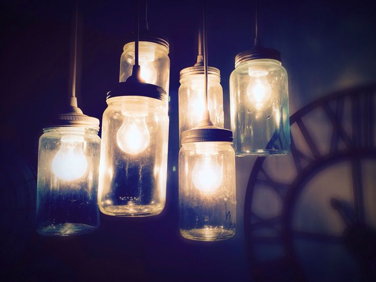 My mason jars lamp - Hjemmelaget norgesglass-lampe