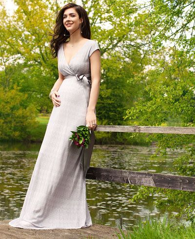 Summer Breeze Maxi Maternity Dress (Silver) - Maternity Wedding Dresses, Evening Wear and Party Clothes by Tiffany Rose.