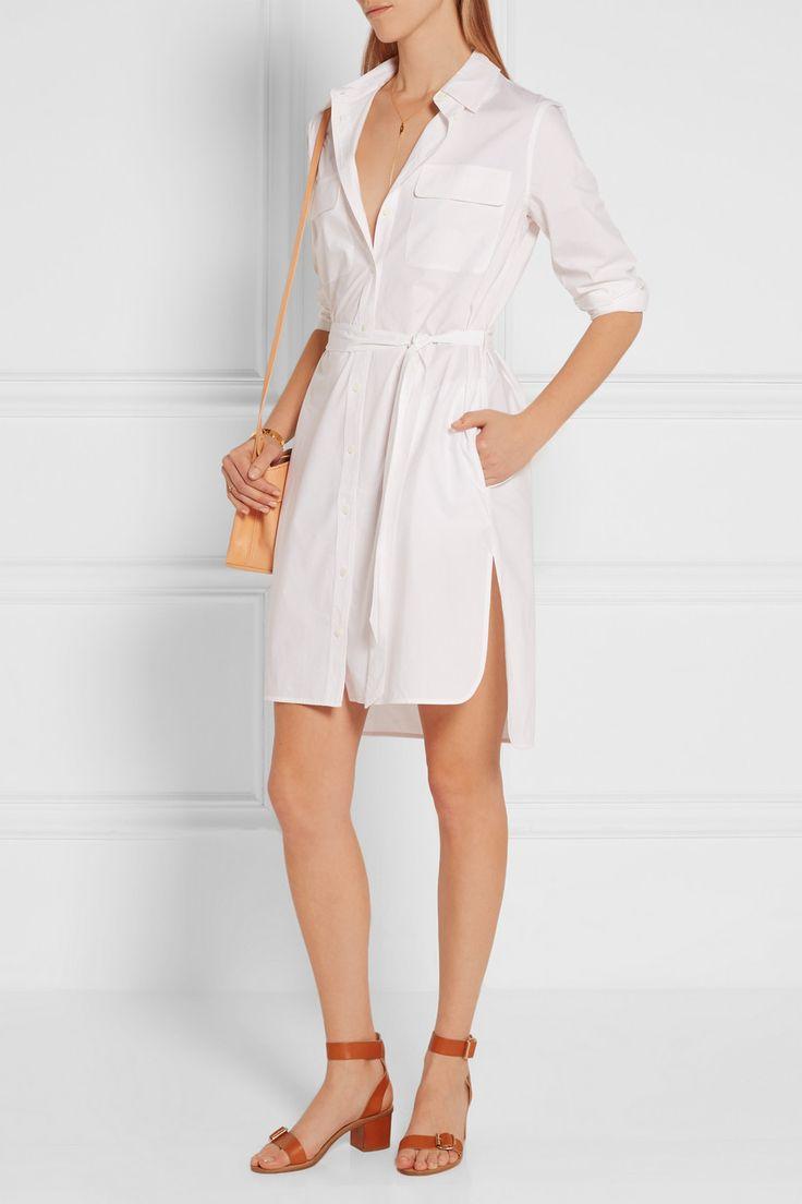 оборудование Делани хлопка поплина рубашку платье Net A Porter Com 2017 Fashion