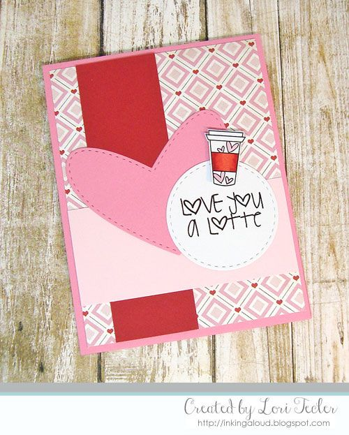Handmade card by Lori Tecler using the Love From Me Digital set from Verve. #vervestamps