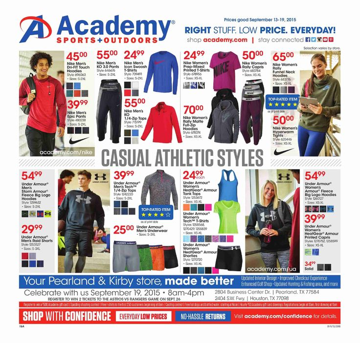 Academy Sports Weekly Ad September 13 - 19, 2015 - http://www.kaitalog.com/academy-sports-weekly-ad.html