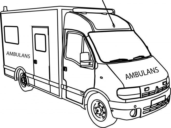 Okul öncesi Ambulans Boyama Sayfası Boyama Sayfası çıktısı Al