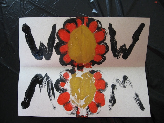 """""""Wow Mom!"""" Mother's Day symmetry painting project!"""